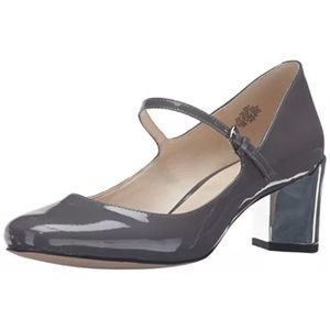 NINE WEST Women's Fadilla Pewter Gray Heels